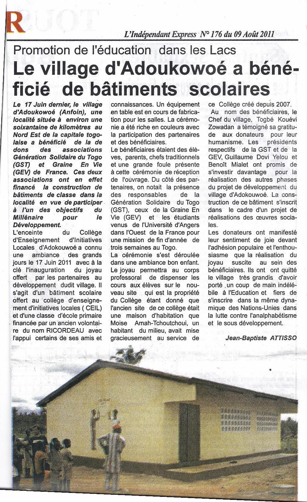 revue de presse GST